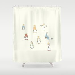 Eight Maids-a-Milking Shower Curtain