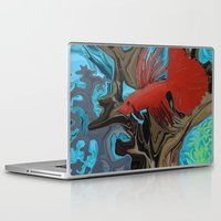 band Laptop & iPad Skins featuring Betta's Band by Distortion Art
