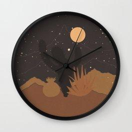 Desert Moon Phase III Wall Clock
