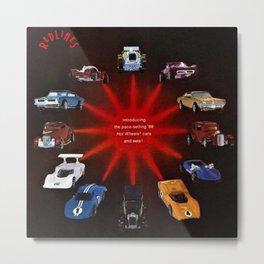 1969 Hot Wheels Redline Catalog Poster No 1 Metal Print