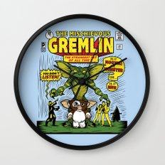The Mischievous Gremlin Wall Clock