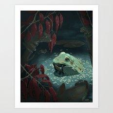Frog Eat Frog Art Print