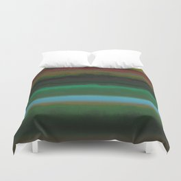 Summer Sunset Landscape Duvet Cover