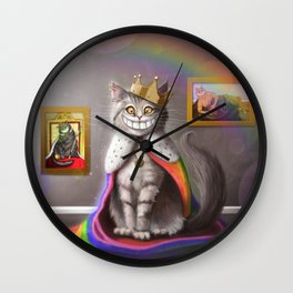 His Majesty the Cat Wall Clock