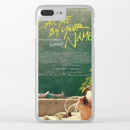 Call Me By Your Name Movie Poster Clear iPhone Case
