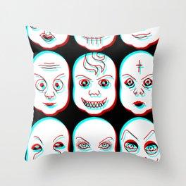 Pediophobia Throw Pillow