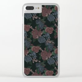 Night Roses Clear iPhone Case