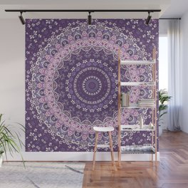 Purple Lace Mandala Wall Mural