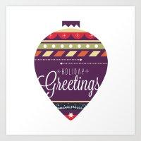 Christmas collection - Holiday Greetings Art Print