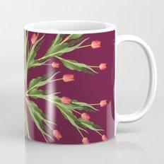 Burgundy and tulips Coffee Mug