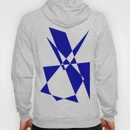 Cobalt Blue Geometric Construct Hoody
