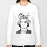 basquiat Long Sleeve T-shirts featuring Basquiat by offthefaceoftheearth
