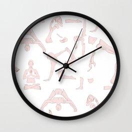 Yoga Practice. Wall Clock