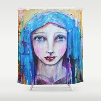 mother Shower Curtains featuring Mother by Gioncarla