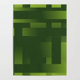 Green Abstraction Poster