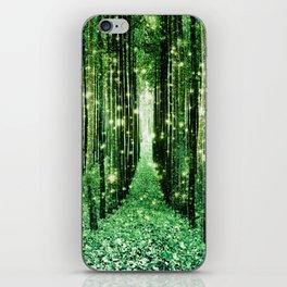 Magical Forest Green Elegance iPhone Skin