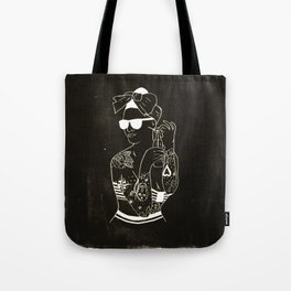 Tattooed pin up girl Tote Bag
