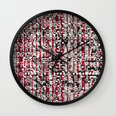 Linear Thinking Trip-Switch (P/D3 Glitch Collage Studies) Wall Clock