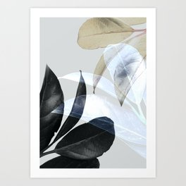 Moody Leaves II Art Print
