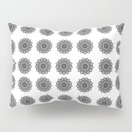 Black and White Mandala | Secret Geometry Pillow Sham