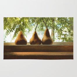 Summer Pear Ripening By Screened Window Rug