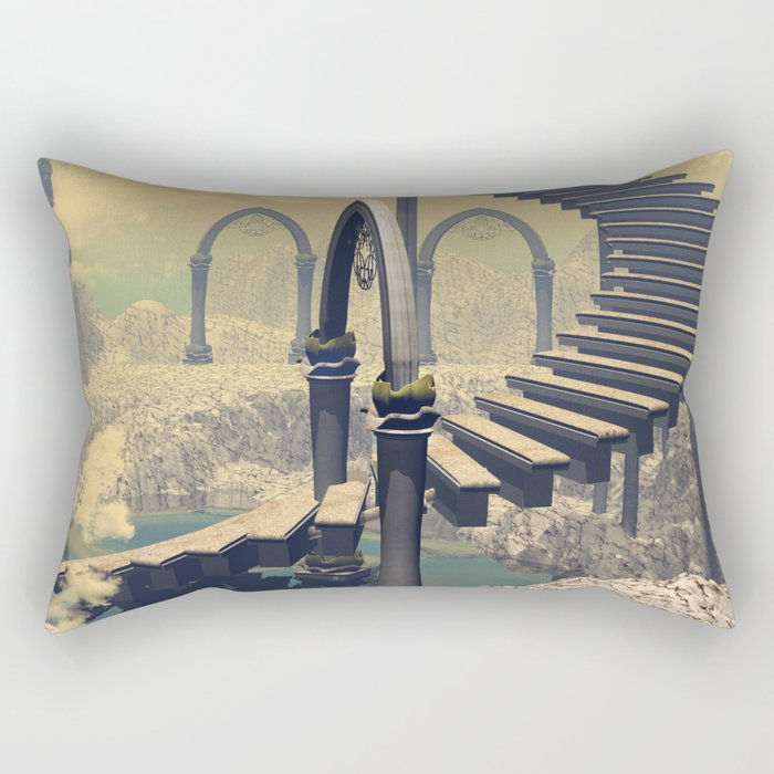 The treppe in the sky Rectangular Pillow