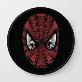 Spider Man Line Art By Kaydesign Wall Clock
