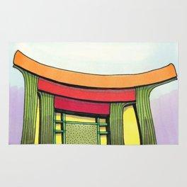 Cactus Pagoda Architectural Design 53 Rug