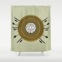 agents of shield Shower Curtains featuring Shield  by Daniac Design