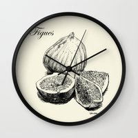 fig Wall Clocks featuring Fig by Benoit Springer