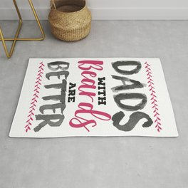 Fun Dads with Beards are Better Father's Day Gift Rug