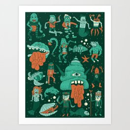 Wow! Creatures!  Art Print