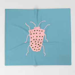 Arthropod blue Throw Blanket