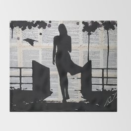 Melancholy Throw Blanket