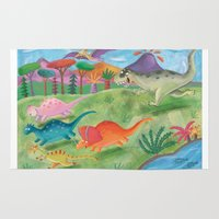 dino Area & Throw Rugs featuring dino by miremari