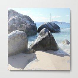 The Baths Beach on Virgin Gorda, BVI - Blissful Beach Metal Print