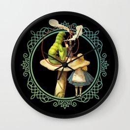 Alice and the Smoking Caterpillar - Alice in Wonderland Wall Clock