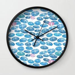 Lotus Pattern Watercolor Wall Clock