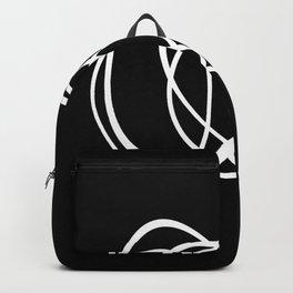 Mid Century Black And White Minimalist Design Backpack
