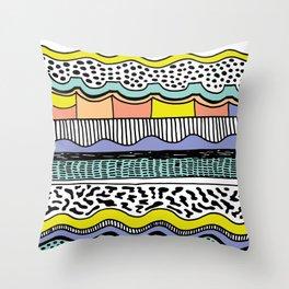 NATIVE WAVES Throw Pillow