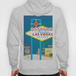 Las Vegas, Nevada - Skyline Illustration by Loose Petals Hoody