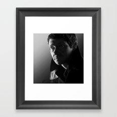 John in black and white Framed Art Print