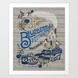 Whitesbog Blueberry Festival Poster Art Print