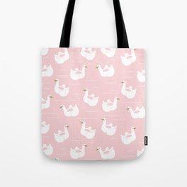 Swan Pool Float in Millenial Pink Tote Bag