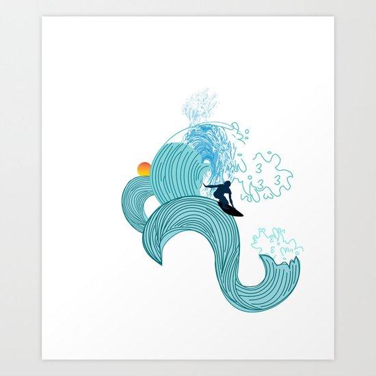 surfing 2 Art Print