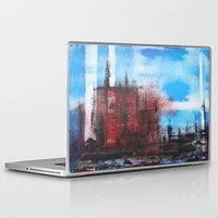cityscape Laptop & iPad Skins featuring Cityscape by Alfred Raggatt