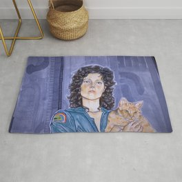 In Space No One Can Hear Your Cat Rug