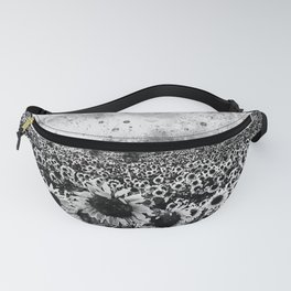 abstract sunflowers wsbw Fanny Pack