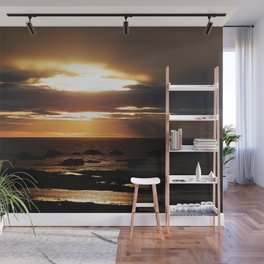 Golden Sunset Delight Wall Mural