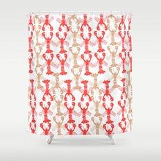 Lobster Print Shower Curtain